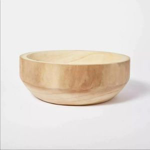"Studio McGee 12""x4"" Decorative Paulownia Wood Bowl"